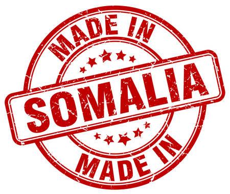 somalia: made in Somalia red grunge round stamp