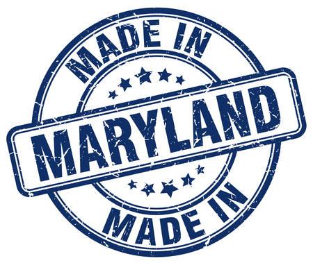 maryland: made in Maryland blue grunge round stamp