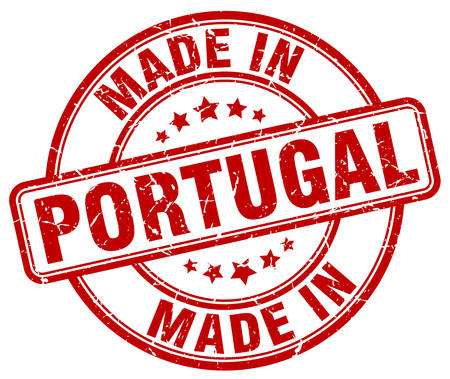 made in portugal: made in Portugal red grunge round stamp