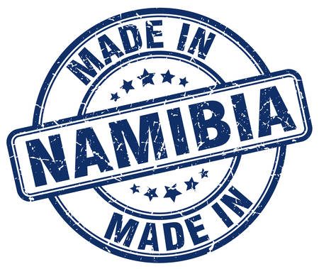 namibia: made in Namibia blue grunge round stamp