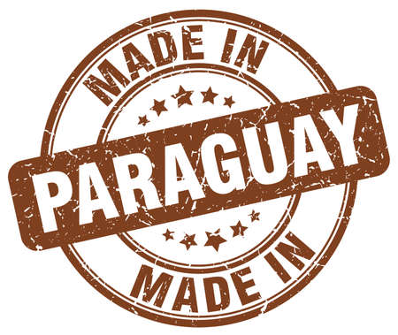 paraguay: made in Paraguay brown grunge round stamp Illustration