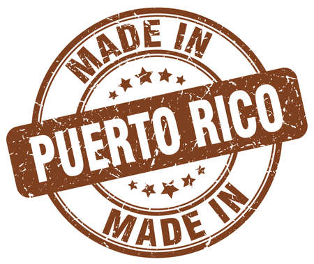 rico: made in Puerto Rico brown grunge round stamp