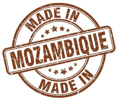 mozambique: made in Mozambique brown grunge round stamp