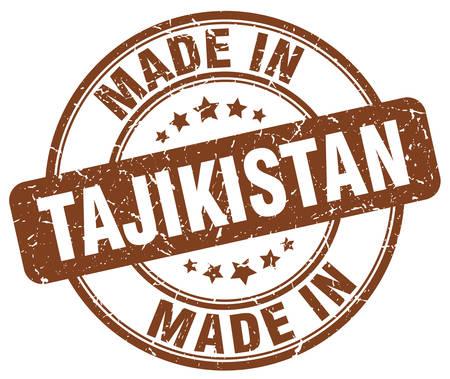 tajikistan: made in Tajikistan brown grunge round stamp Illustration