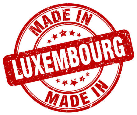 made in: made in Luxembourg red grunge round stamp