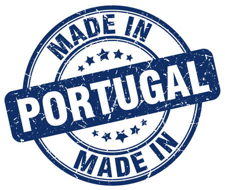 made in portugal: made in Portugal blue grunge round stamp
