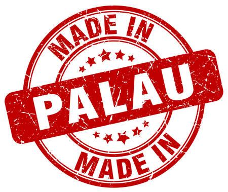 palau: made in Palau red grunge round stamp