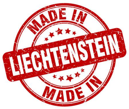 liechtenstein: made in Liechtenstein red grunge round stamp Illustration