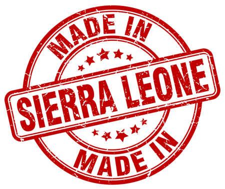 sierra: made in Sierra Leone red grunge round stamp