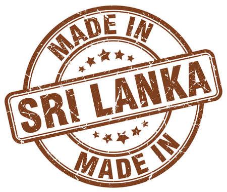 sri lanka: made in Sri Lanka brown grunge round stamp Illustration