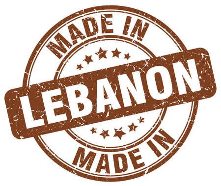 lebanon: made in Lebanon brown grunge round stamp
