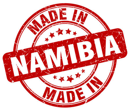 namibia: made in Namibia red grunge round stamp