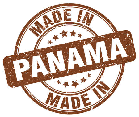panama: made in Panama brown grunge round stamp