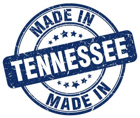 tennessee: hecho en Tennessee sello redondo azul del grunge