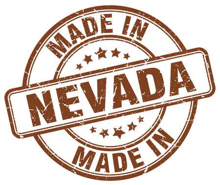 nevada: made in Nevada brown grunge round stamp