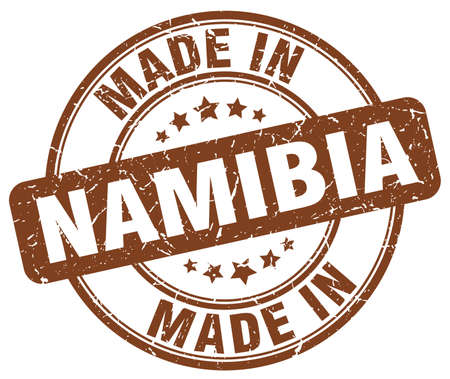 namibia: made in Namibia brown grunge round stamp