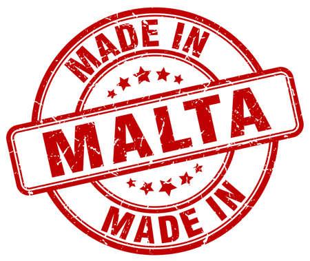 malta: made in Malta red grunge round stamp