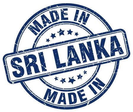 sri lanka: made in Sri Lanka blue grunge round stamp Illustration