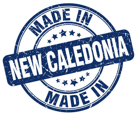 new caledonia: made in New Caledonia blue grunge round stamp Illustration