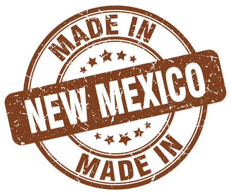 new mexico: made in New Mexico brown grunge round stamp