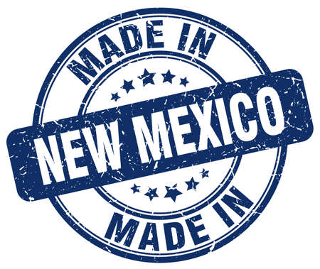new mexico: made in New Mexico blue grunge round stamp