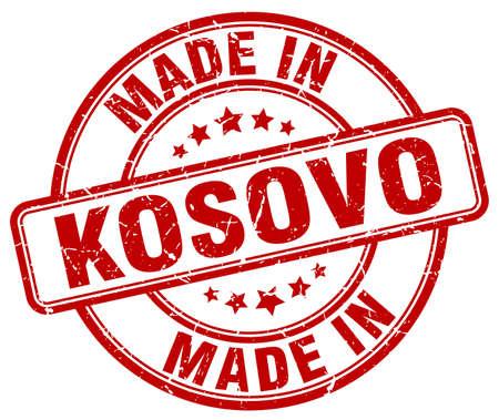 kosovo: made in Kosovo red grunge round stamp