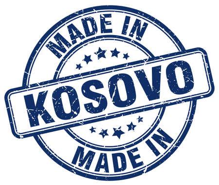 kosovo: made in Kosovo blue grunge round stamp