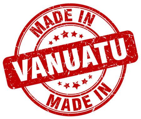 vanuatu: made in Vanuatu red grunge round stamp