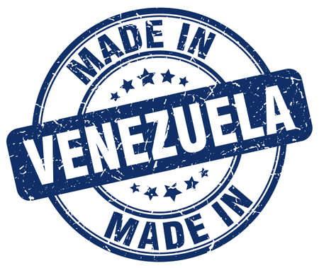 venezuela: made in Venezuela blue grunge round stamp