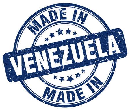 venezuela: made in Venezuela blue grunge round stamp