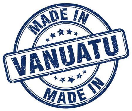 vanuatu: made in Vanuatu blue grunge round stamp