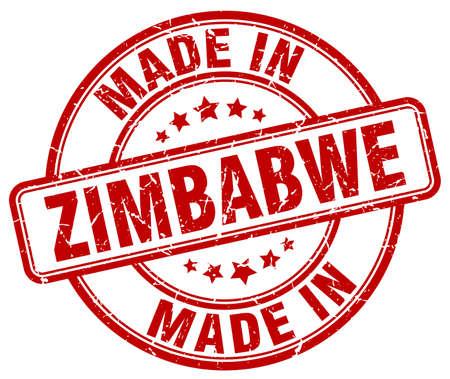 zimbabwe: made in Zimbabwe red grunge round stamp Illustration