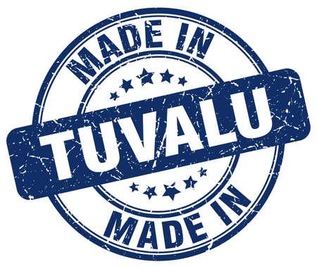 tuvalu: made in Tuvalu blue grunge round stamp Illustration