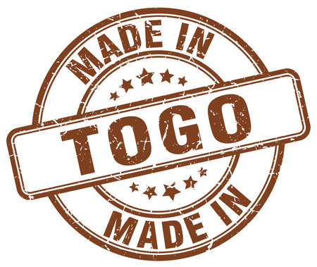 togo: made in Togo brown grunge round stamp Illustration