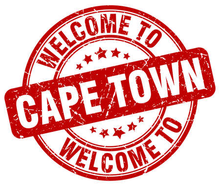 cape town: welcome to Cape Town red round vintage stamp