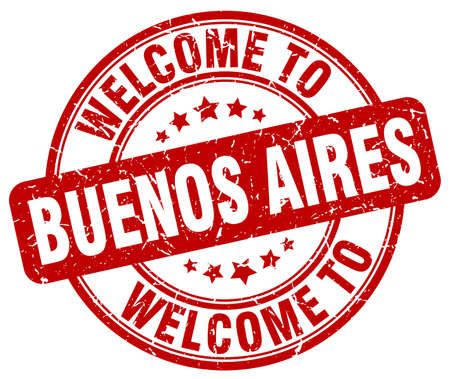 buenos: welcome to Buenos Aires red round vintage stamp