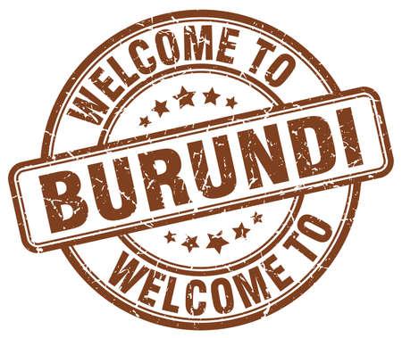 burundi: welcome to Burundi brown round vintage stamp
