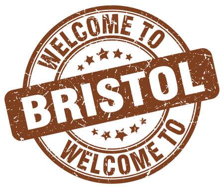 bristol: welcome to Bristol brown round vintage stamp Illustration