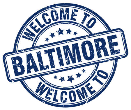 baltimore: welcome to Baltimore blue round vintage stamp Illustration
