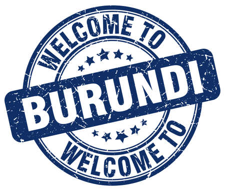 burundi: welcome to Burundi blue round vintage stamp Illustration