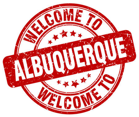 albuquerque: welcome to Albuquerque red round vintage stamp