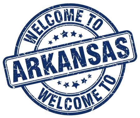 arkansas: welcome to Arkansas blue round vintage stamp Illustration