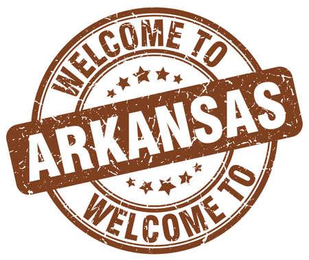 arkansas: welcome to Arkansas brown round vintage stamp
