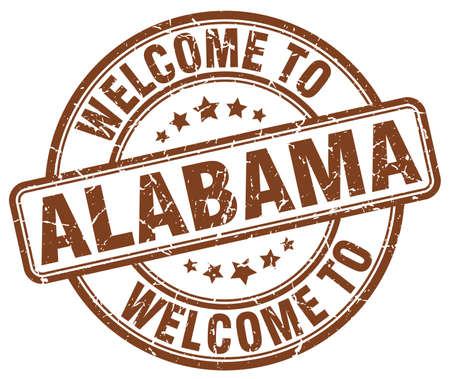 alabama: welcome to Alabama brown round vintage stamp Illustration