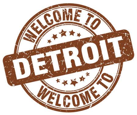 detroit: welcome to Detroit brown round vintage stamp