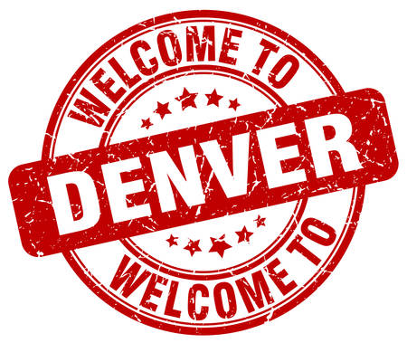 denver: welcome to Denver red round vintage stamp