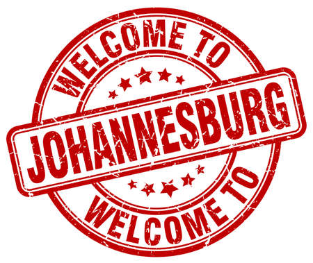 welcome to Johannesburg red round vintage stamp Illustration