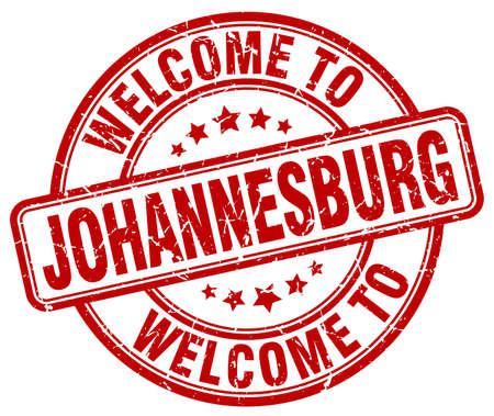 johannesburg: welcome to Johannesburg red round vintage stamp Illustration