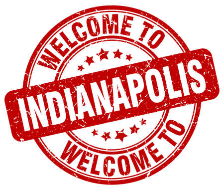 indianapolis: welcome to Indianapolis red round vintage stamp Illustration