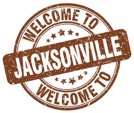 jacksonville: welcome to Jacksonville brown round vintage stamp